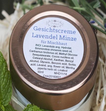 Lavendel Minze Creme